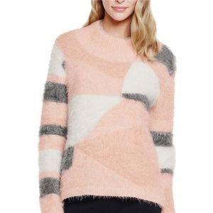 Vince Camuto intarsia eyelash sweater